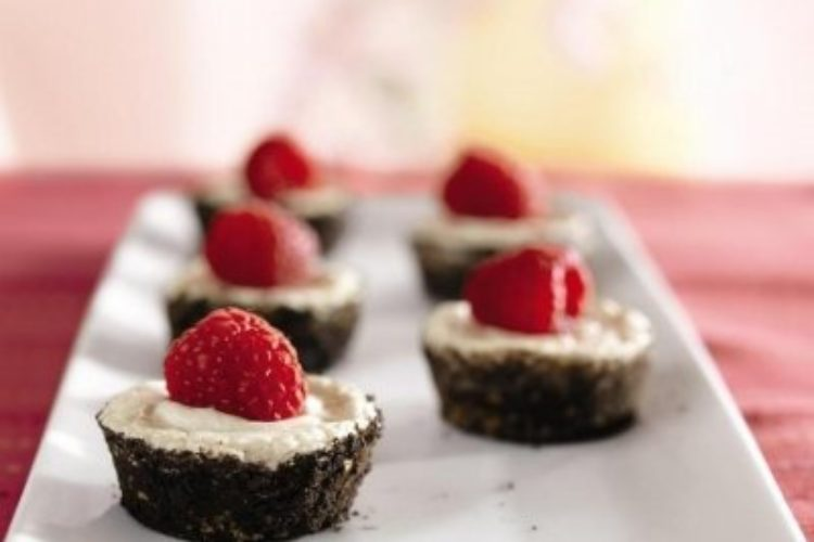 Individual Chocolate Crusted Cheesecakes