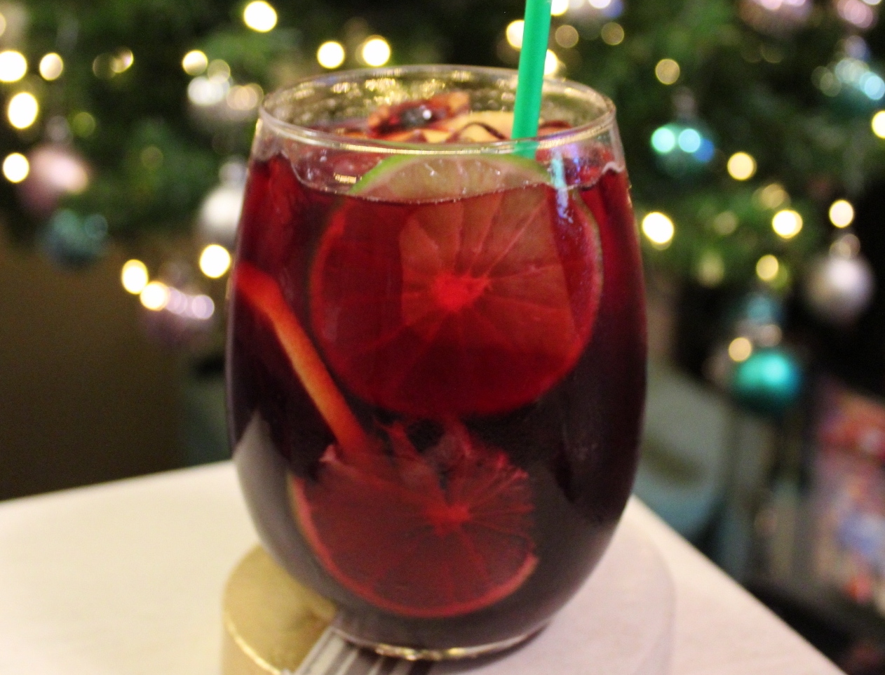Sparkly Red Holiday Sangria