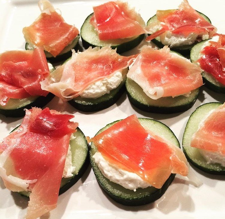 Prosciutto Cucumber Bites