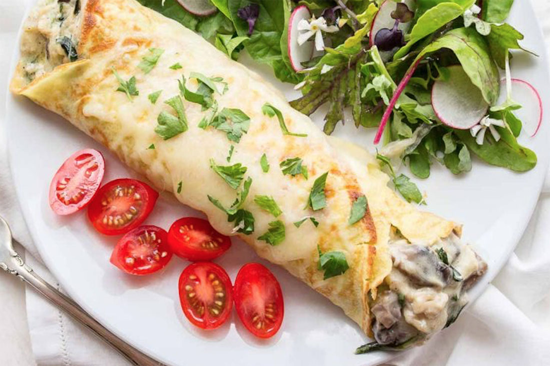 Chicken Florentine Crepes