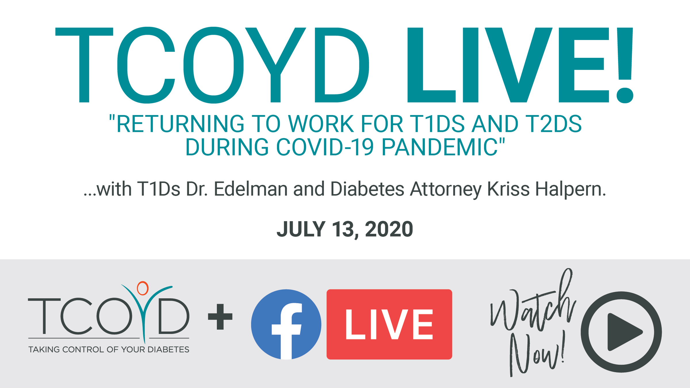 TCOYD Facebook Live: People with Diabetes Returning to Work During COVID-19