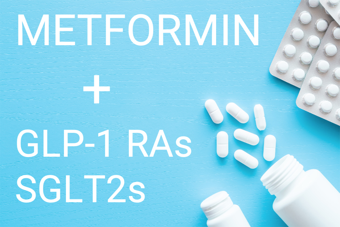 Are GLP-1s and SGLT2s replacements for Metformin or in addition to Metformin?