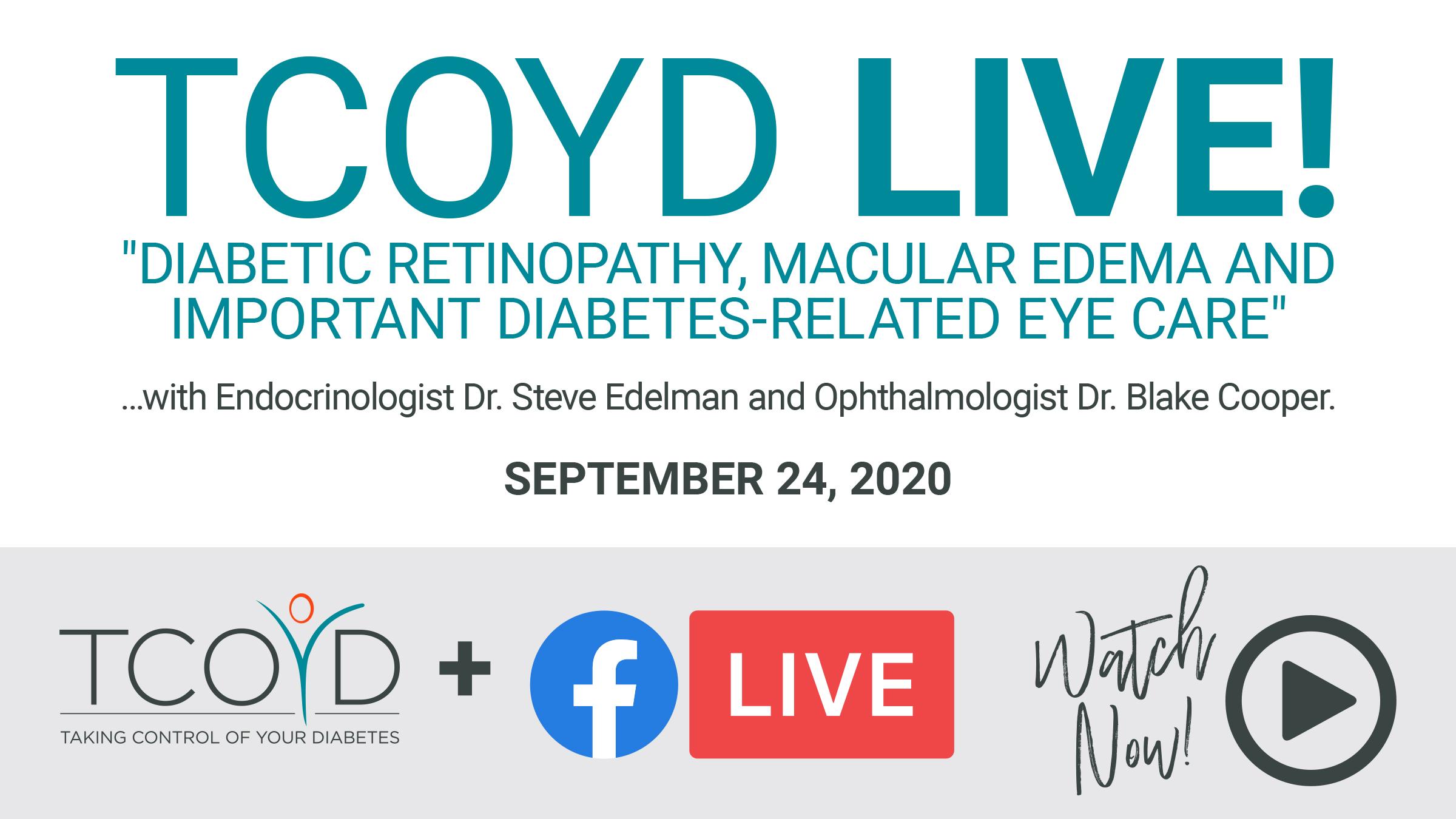 Facebook Live: Diabetic Retinopathy, Macular Edema & Diabetes-Related Eye Care