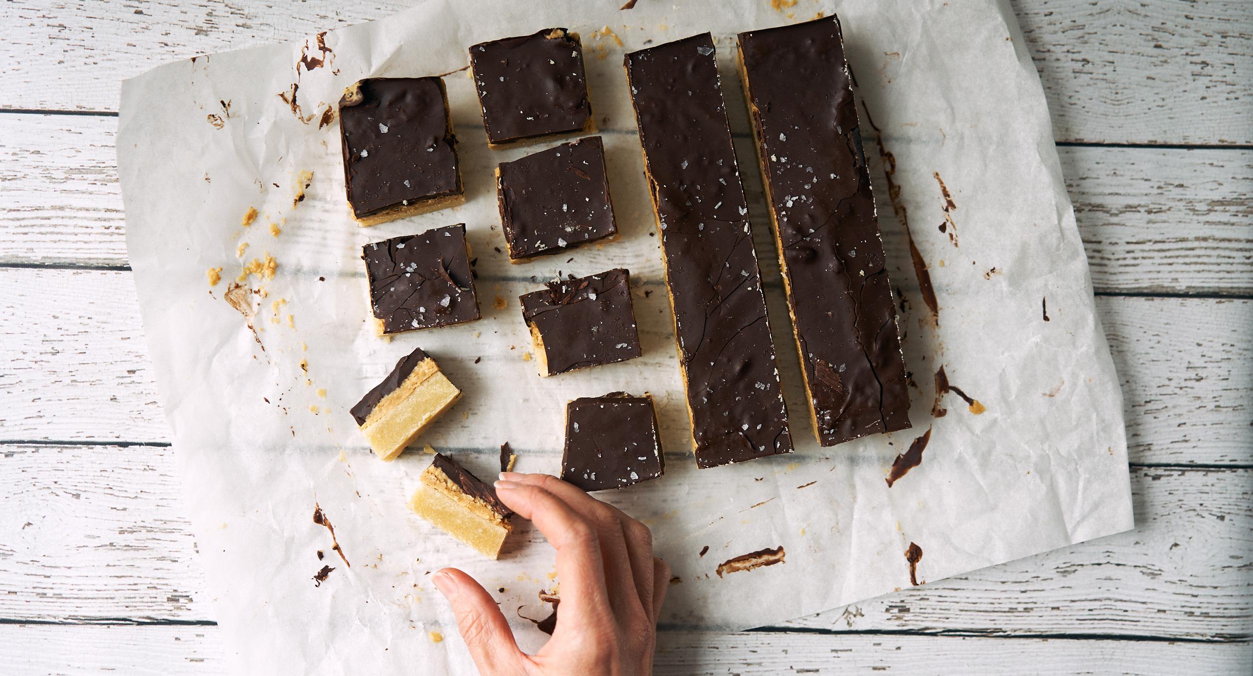 Chocolate Peanut Butter Shortbread