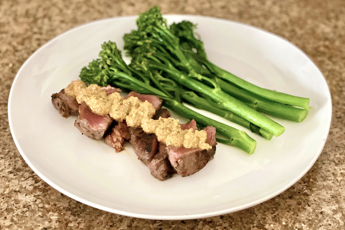 Steakhouse-at-Home Steak and Broccolini