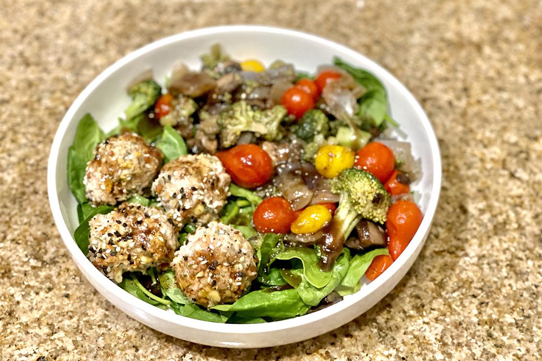 Mini Turkey Meatballs (Salad Optional!)